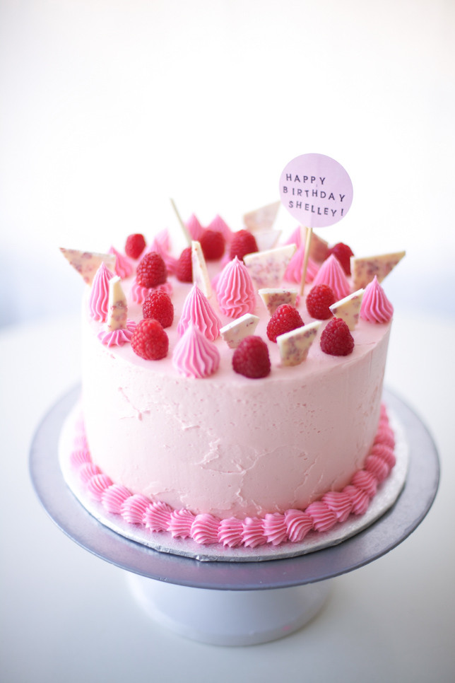 Best ideas about Pink Birthday Cake . Save or Pin Happy Birthday Sis Raspberry Pink Birthday Cake Tutorial Now.