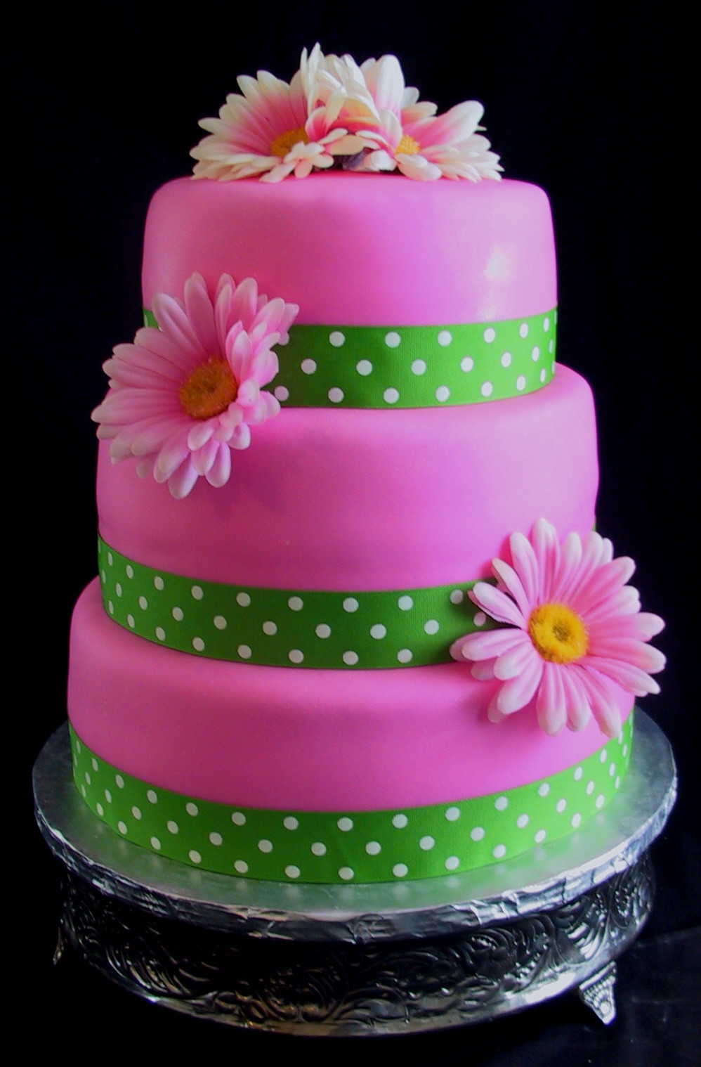 Best ideas about Pink Birthday Cake . Save or Pin Bridal Shower Pink Gerber Daisy Cake – Bardstown KY Now.