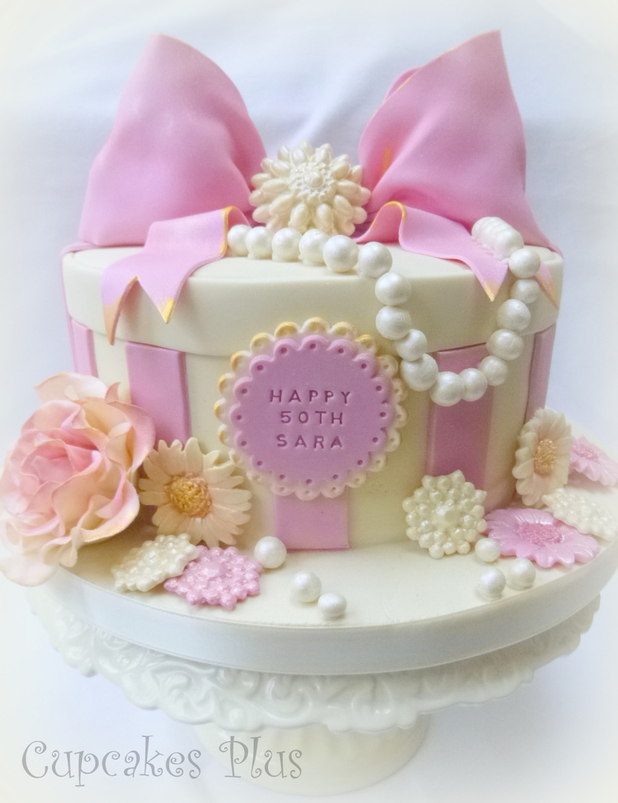 Best ideas about Pink Birthday Cake . Save or Pin Pink And Girly 50Th Birthday Cake X CakeCentral Now.