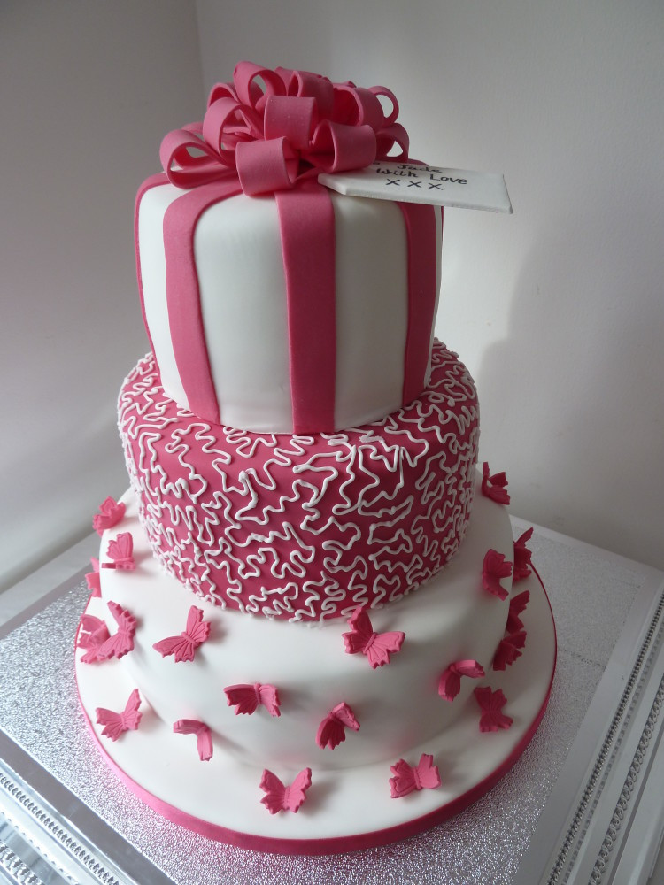 Best ideas about Pink Birthday Cake . Save or Pin Wedding Cakes Now.