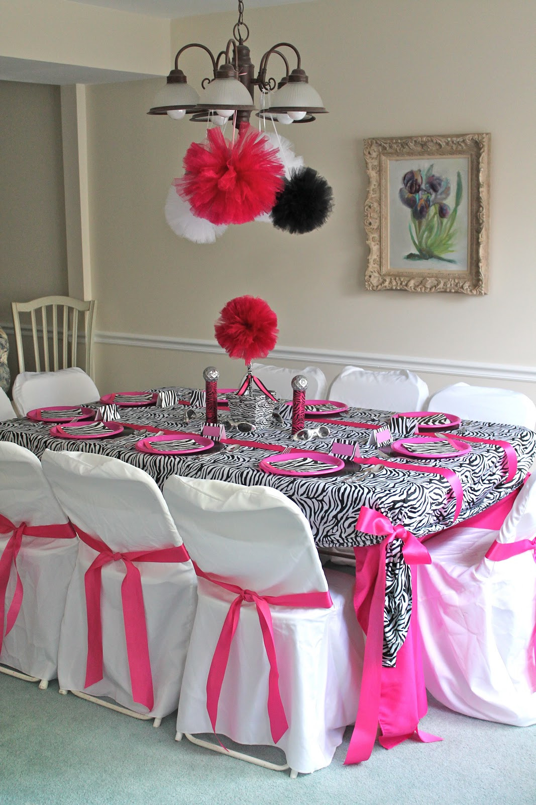 Best ideas about Pink Birthday Party Decorations . Save or Pin Pretti Mini Blog Zebra & Pink Pop Star Party Now.