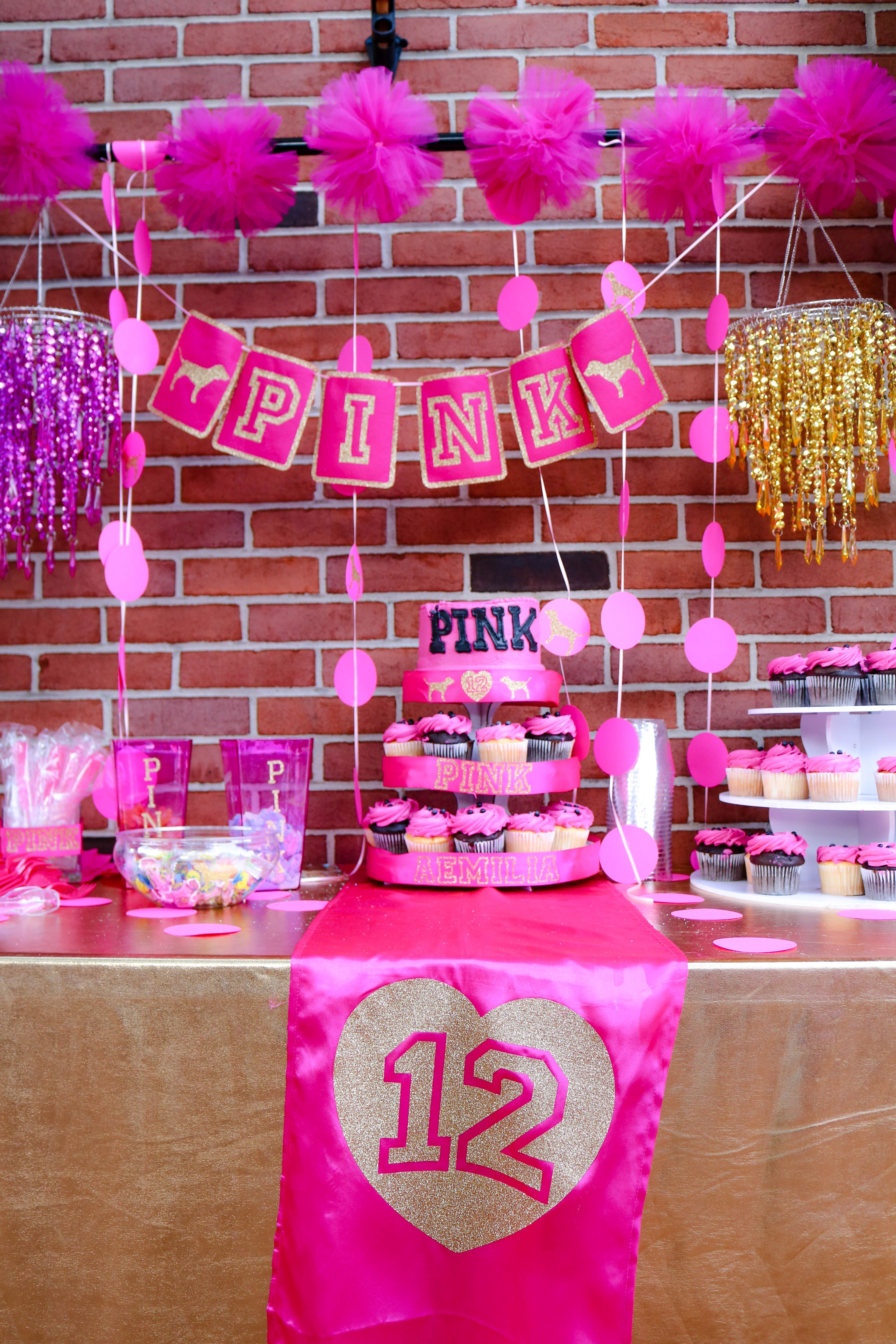"""Best ideas about Pink Birthday Party Decorations . Save or Pin Pink VS Birthday Birthday """"Aemilia s 12th Pink Birthday Now."""