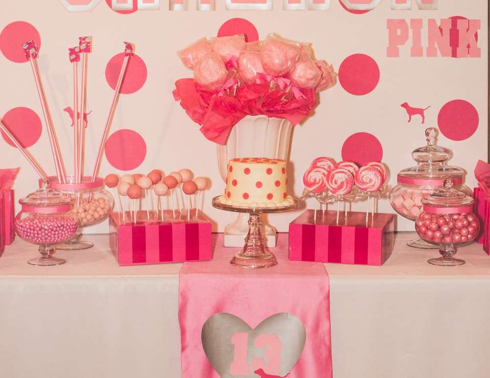 """Best ideas about Pink Birthday Party Decorations . Save or Pin Victoria s Secret Pink Birthday """"Cameron s VS Pink 13th Now."""