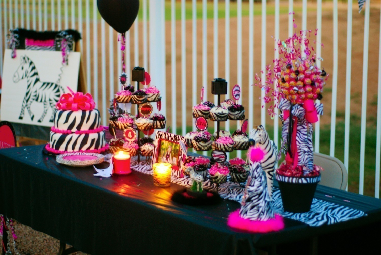 Best ideas about Pink Birthday Party Decorations . Save or Pin Pink And Black Party Decorations 3 Background Wallpaper Now.