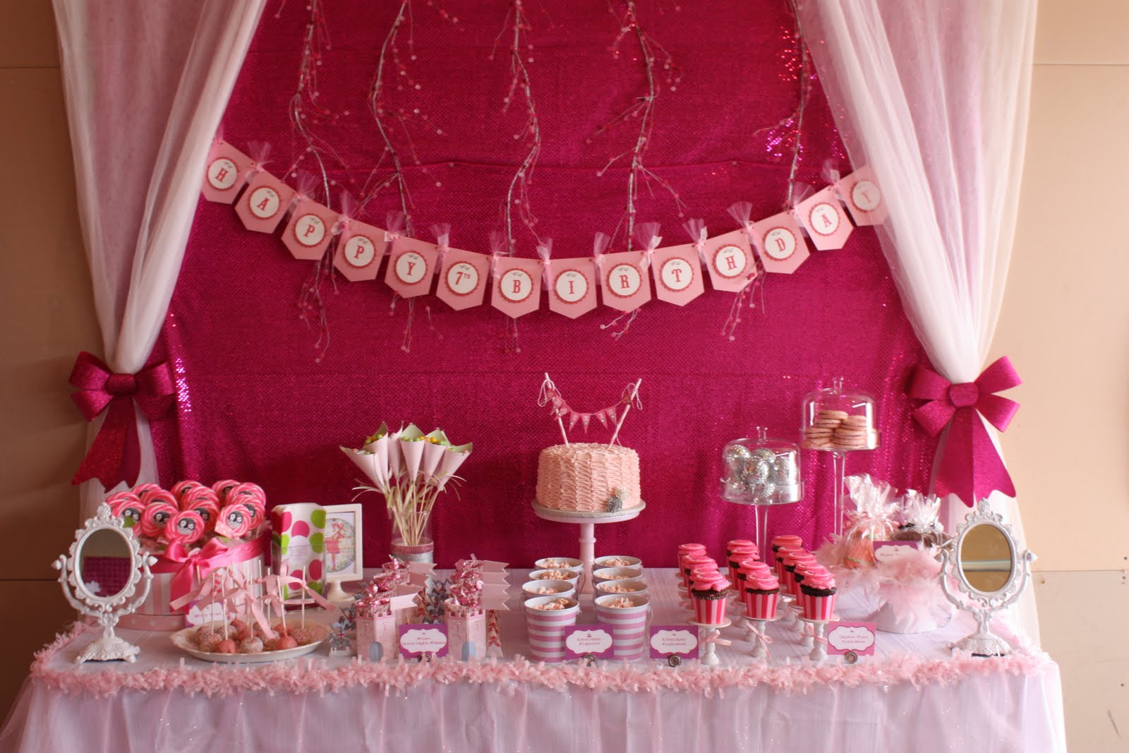 Best ideas about Pink Birthday Party Decorations . Save or Pin Girls Themes Now.