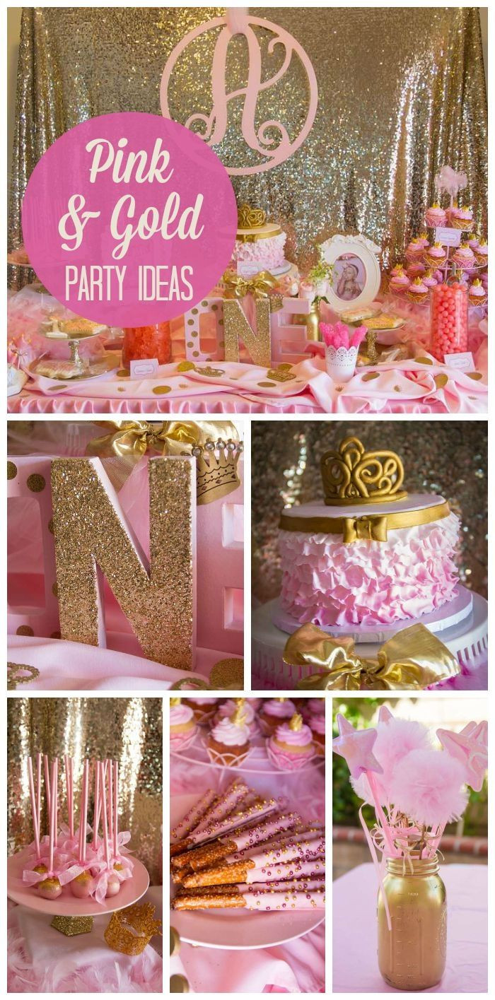 Best ideas about Pink Birthday Party Decorations . Save or Pin Pink and Gold Party Theme sweet 16 or plianos Now.