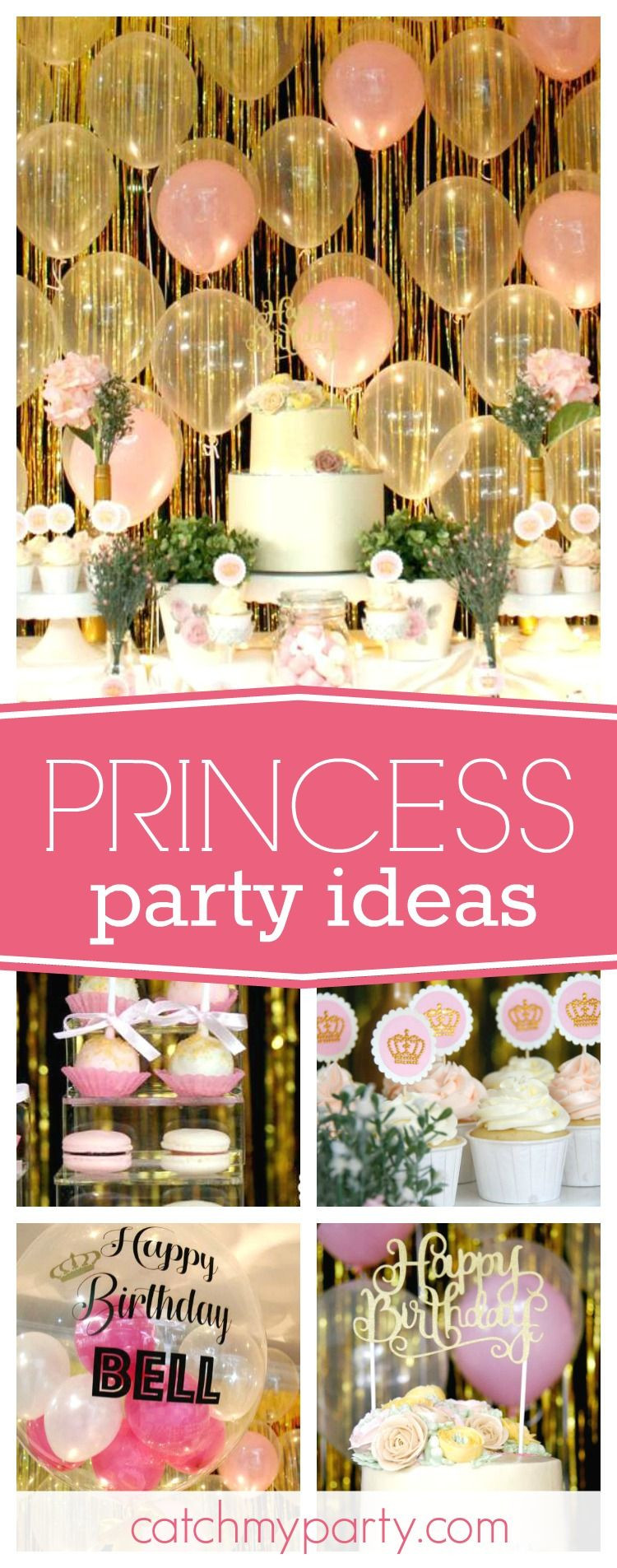 """Best ideas about Pink Birthday Party Decorations . Save or Pin Pink & Gold Themed Birthday """"Pink and Gold Princess Now."""