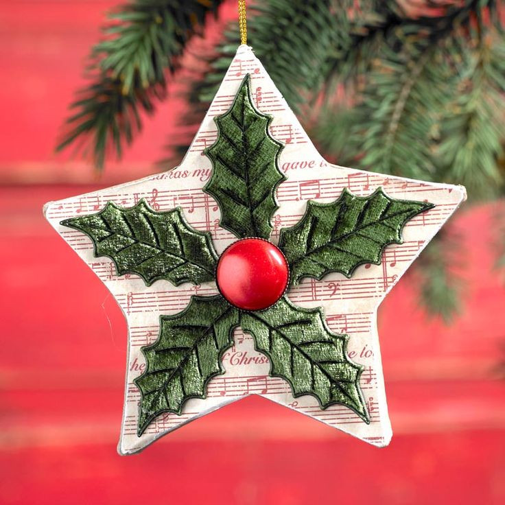 Best ideas about Pinterest Christmas DIY . Save or Pin Decoupage Quick Ornament DIY Christmas Star Now.