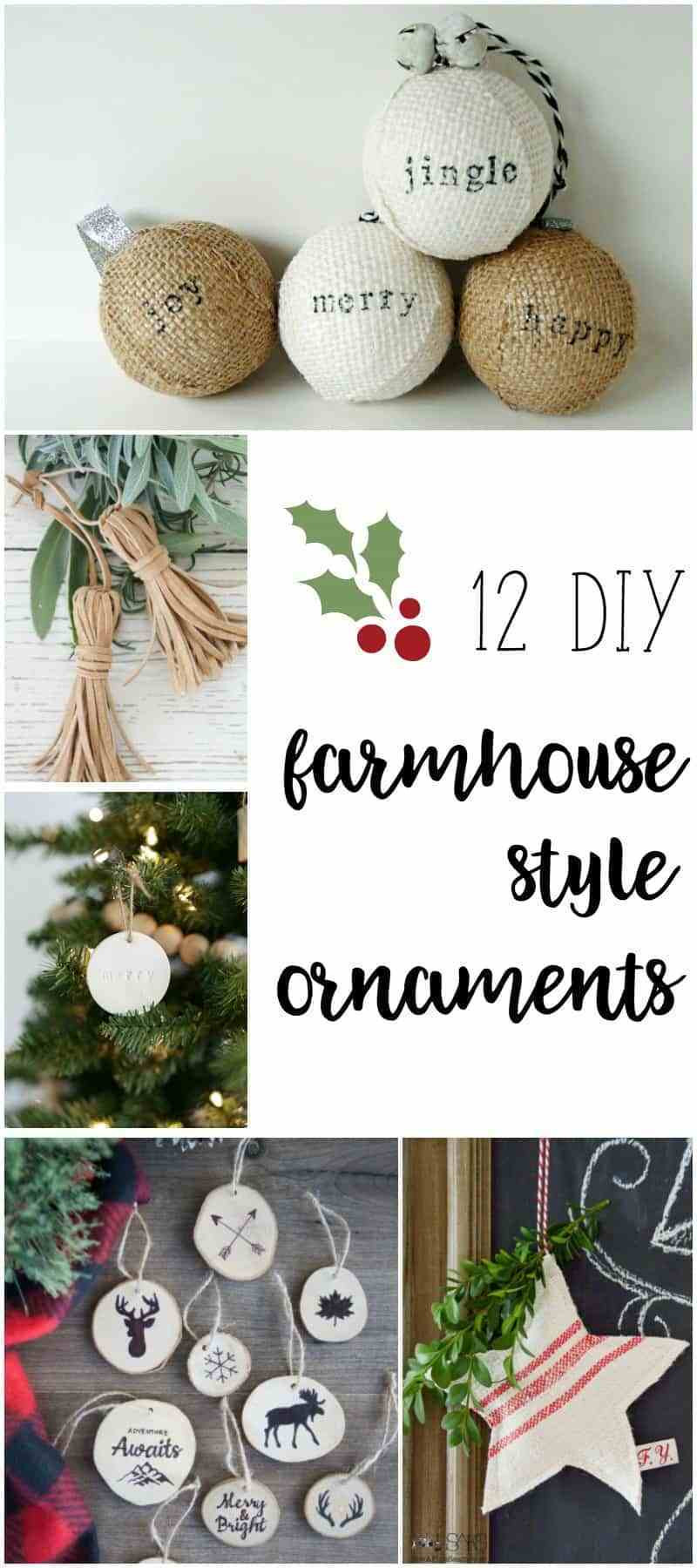 Best ideas about Pinterest Christmas DIY . Save or Pin Farmhouse Style Ornaments for Christmas Now.