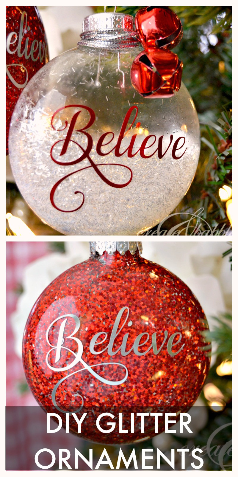 Best ideas about Pinterest Christmas DIY . Save or Pin DIY Glitter Christmas Ornaments Create and Babble Now.