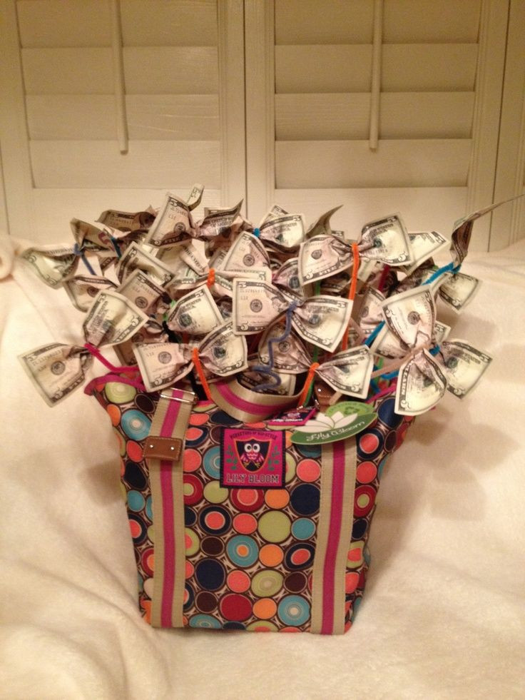 Best ideas about Pinterest Gift Basket Ideas . Save or Pin Money Bags Zonta Gift Basket Inspirations Now.