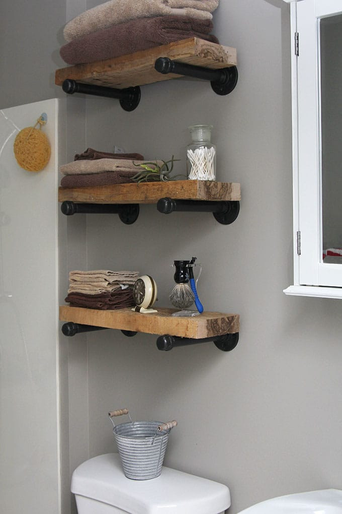 Best ideas about Pipe Shelves DIY . Save or Pin DIY Industrial Pipe Shelves House of Hawthornes Now.