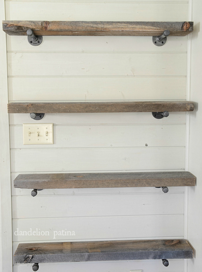 Best ideas about Pipe Shelves DIY . Save or Pin DIY industrial pipe shelving Dandelion Patina Now.