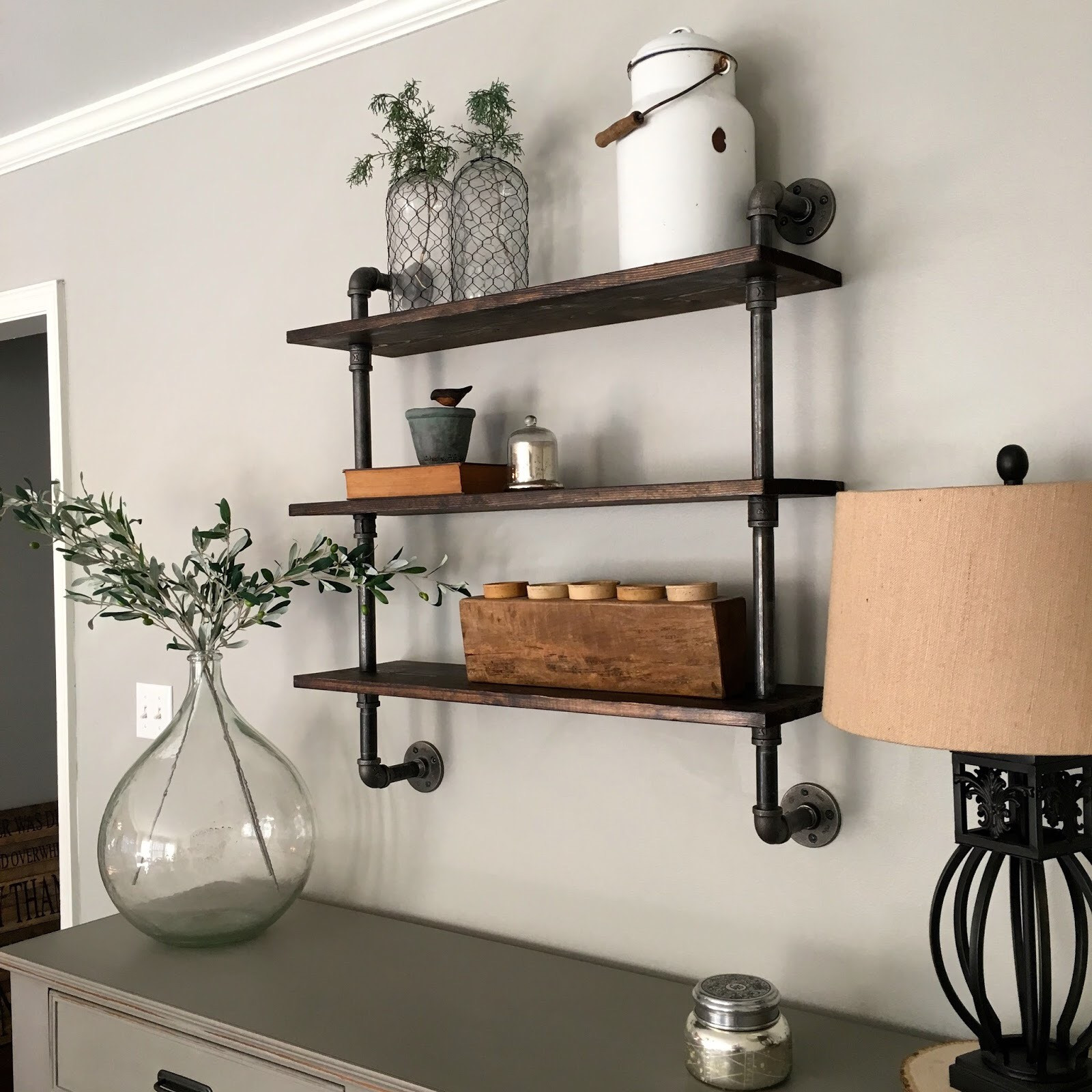 Best ideas about Pipe Shelves DIY . Save or Pin DIY Pipe Shelving Mindfully Gray Now.
