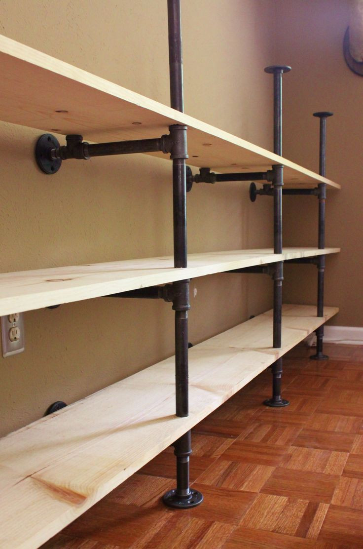 Best ideas about Pipe Shelves DIY . Save or Pin Side View of the Plumbing Pipe Self Unit this is so Now.