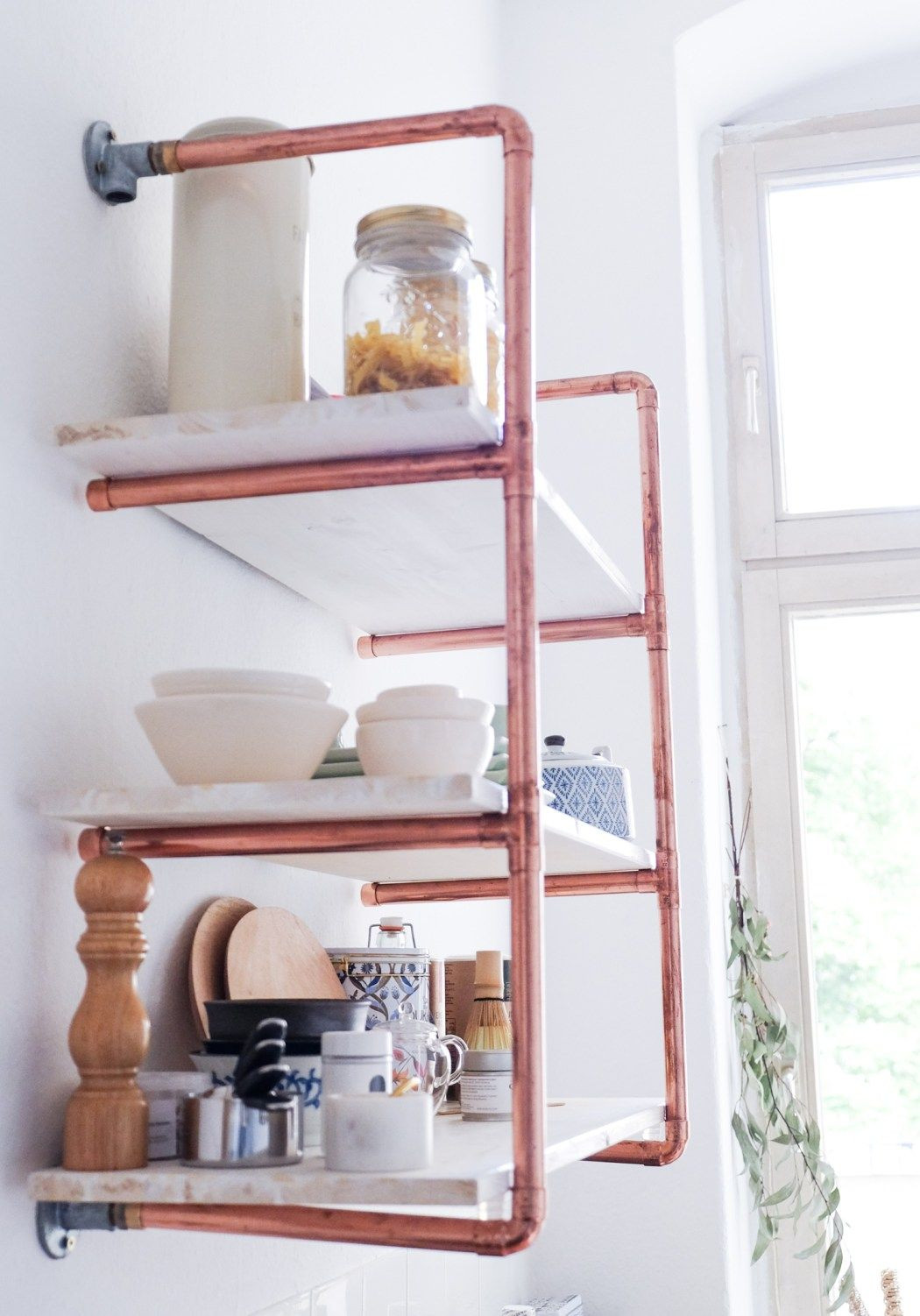 Best ideas about Pipe Shelves DIY . Save or Pin How To Build DIY Pipe Shelves For Your Home From Scratch Now.