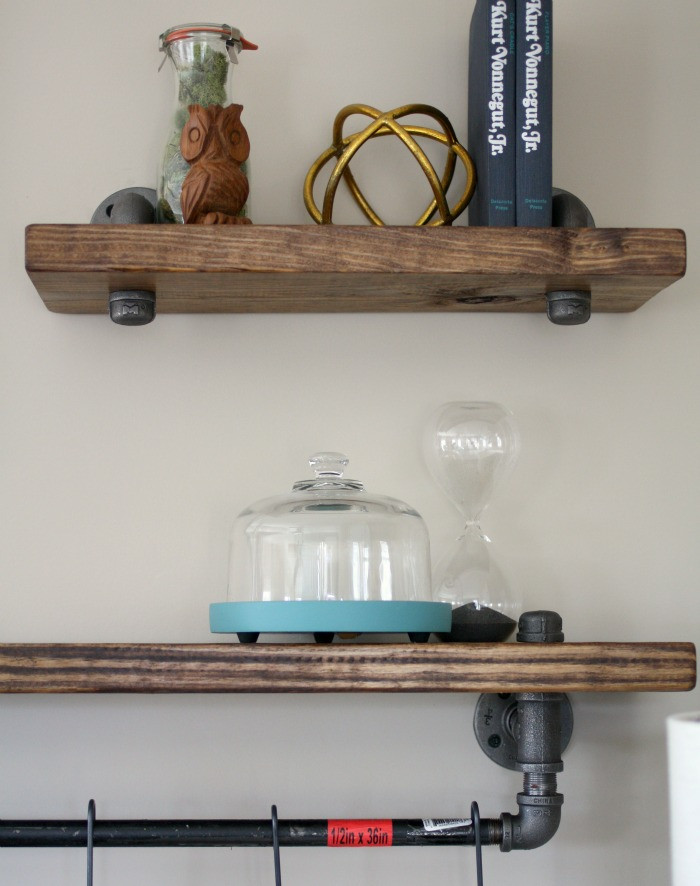 Best ideas about Pipe Shelves DIY . Save or Pin Industrial Pipe and Wood Bookshelves • Craft Thyme Now.
