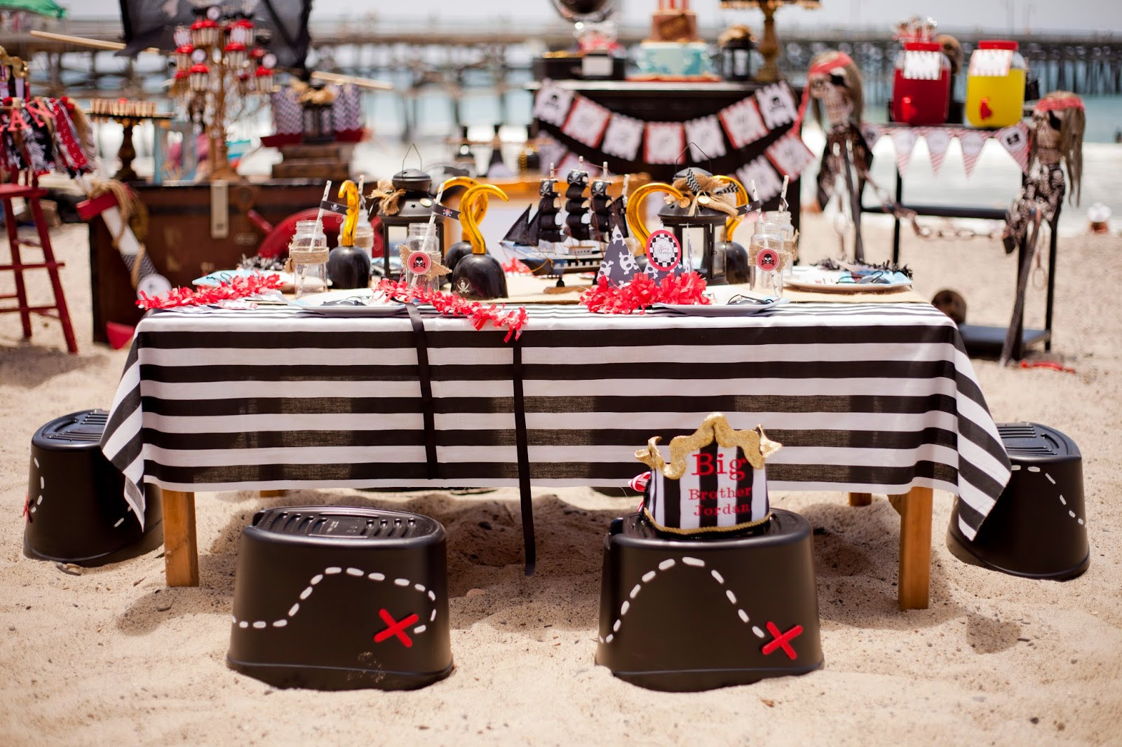 Best ideas about Pirate Birthday Party . Save or Pin Pirate party on the beach LAURA S little PARTY Now.