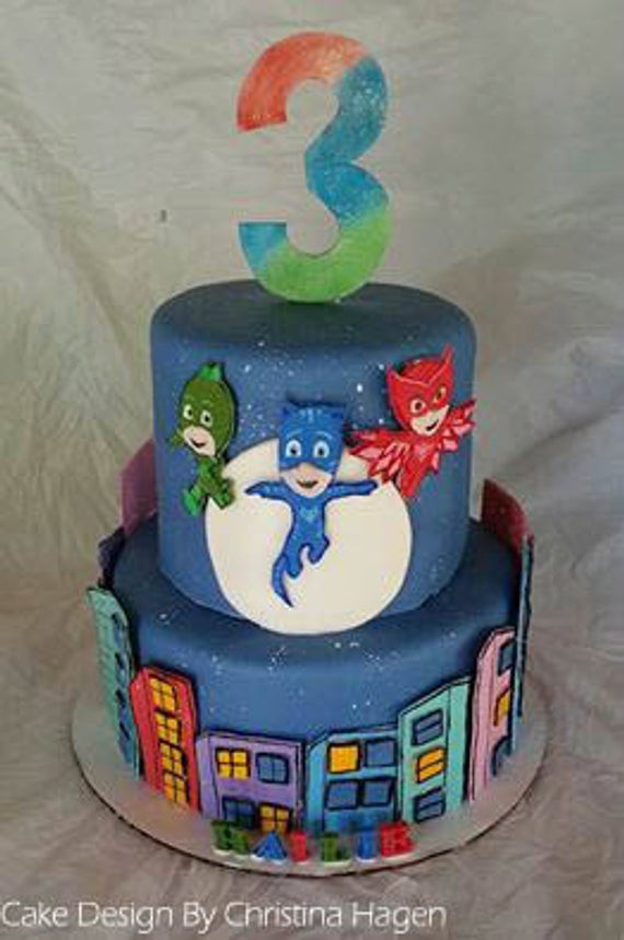 Best ideas about Pj Masks Birthday Cake Ideas . Save or Pin Deluxe PJ Masks Cake Kit Now.