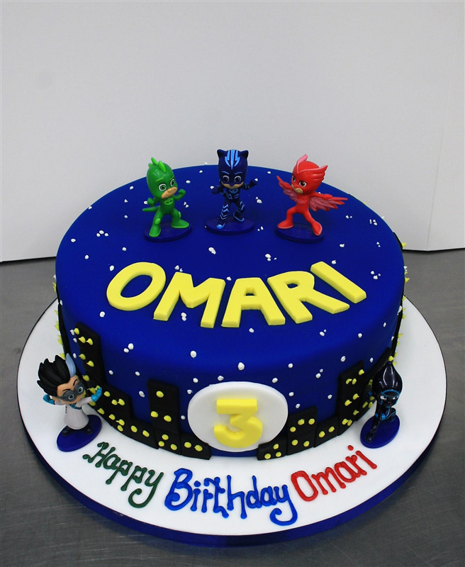 Best ideas about Pj Masks Birthday Cake Ideas . Save or Pin PJ Masks Themed Birthday Cake Now.