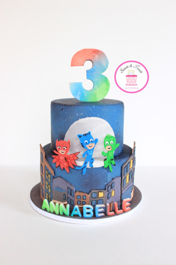 Best ideas about Pj Masks Birthday Cake Ideas . Save or Pin PJ Masks Cake Cake by Sweets and Treats by Christina Now.