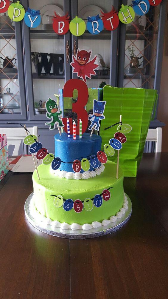 Best ideas about Pj Masks Birthday Cake Ideas . Save or Pin PJ masks birthday cake PJ Masks Birthday Now.