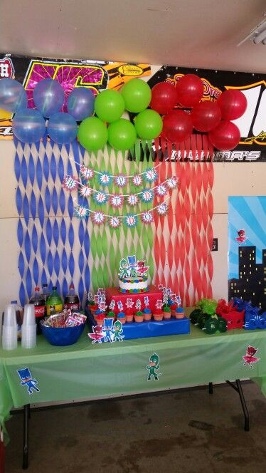 Best ideas about Pj Masks Birthday Decor . Save or Pin PJ Mask Party Landon s Birthday Now.