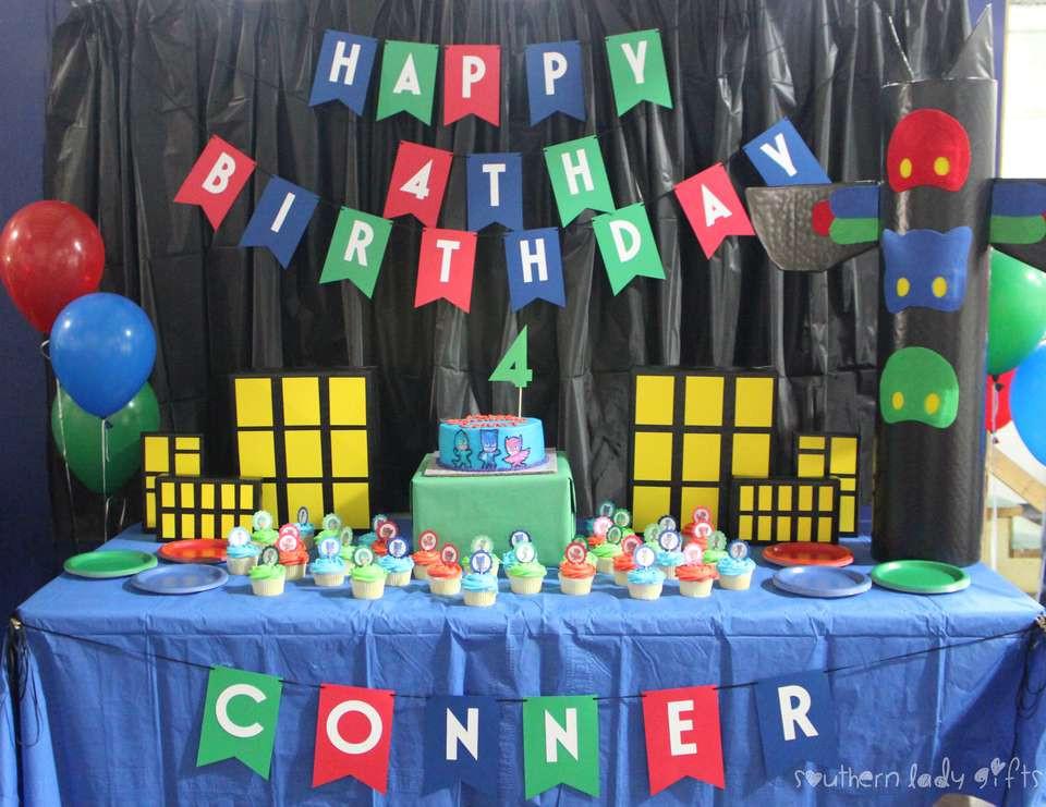 "Best ideas about Pj Masks Birthday Decor . Save or Pin PJ Masks Birthday ""Conner s PJ Masks 4th Birthday Now."