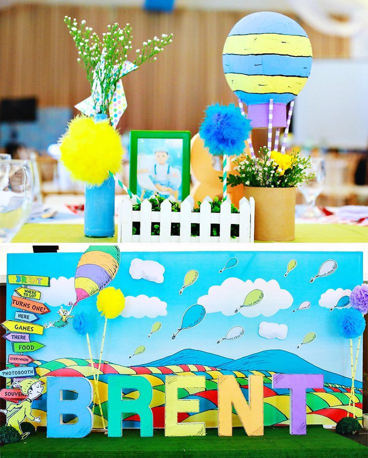 "Best ideas about Places To Go For Birthday Party . Save or Pin Playful ""Oh the Places You ll Go"" First Birthday Party Now."