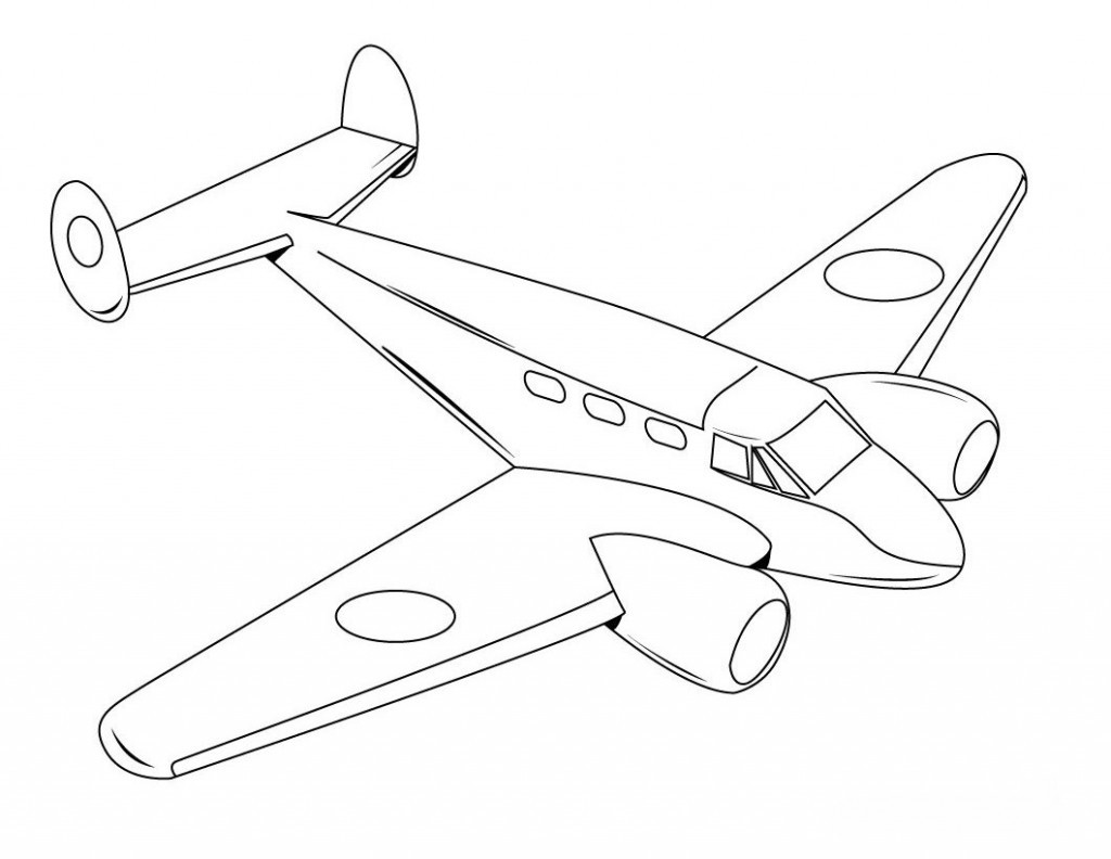Best ideas about Planes Coloring Pages For Kids . Save or Pin Free Printable Airplane Coloring Pages For Kids Now.
