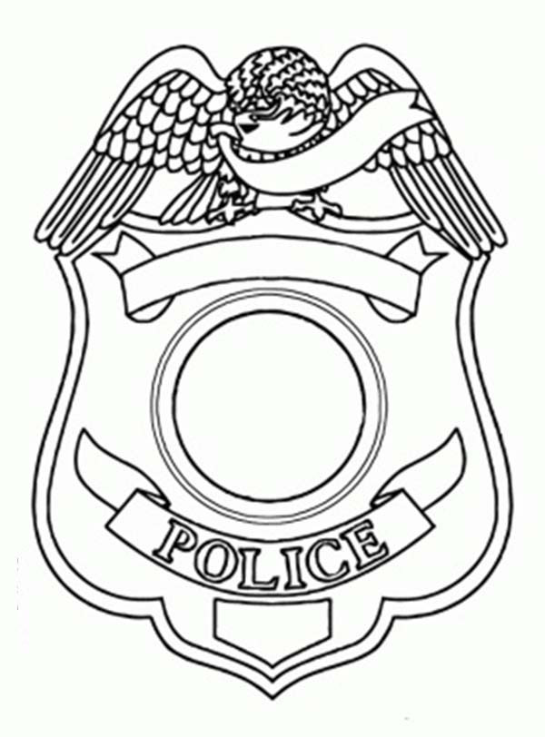 Best ideas about Police Badge Printable Coloring Pages . Save or Pin Police Badge Picture Coloring Page Now.