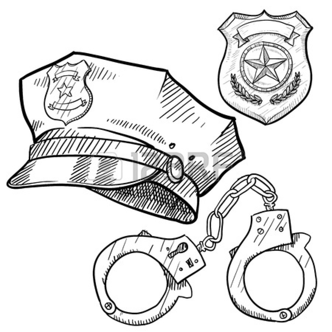 Best ideas about Police Badge Printable Coloring Pages . Save or Pin Police Station Coloring Page Now.