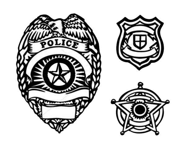 Best ideas about Police Badge Printable Coloring Pages . Save or Pin Picture of Type Police Badge Coloring Page Now.
