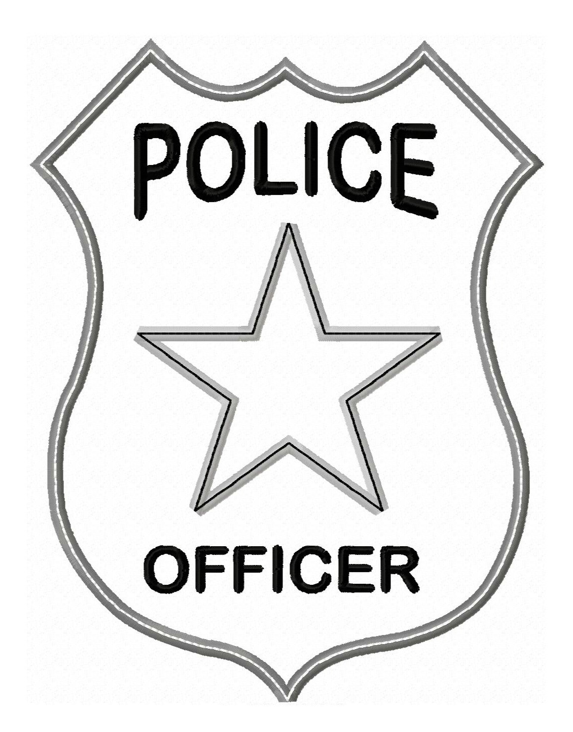 Best ideas about Police Badge Printable Coloring Pages . Save or Pin Police ficer Badge Applique Now.