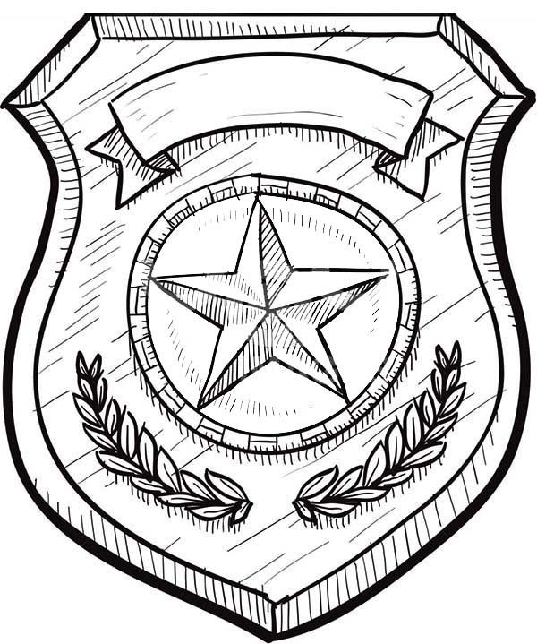 Best ideas about Police Badge Printable Coloring Pages . Save or Pin Badge without Eagles Coloring Page Now.