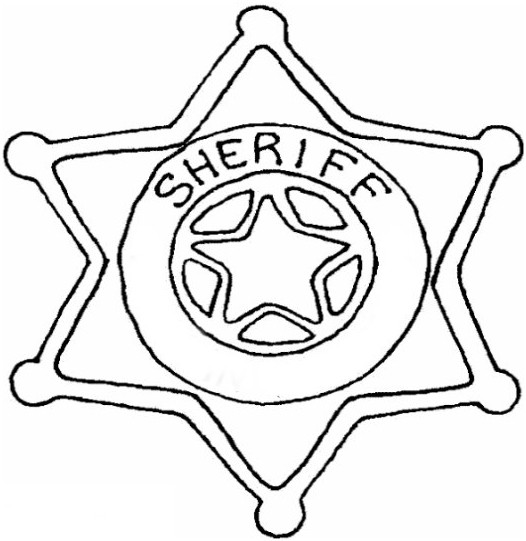 Best ideas about Police Badge Printable Coloring Pages . Save or Pin Police Badge Template Now.
