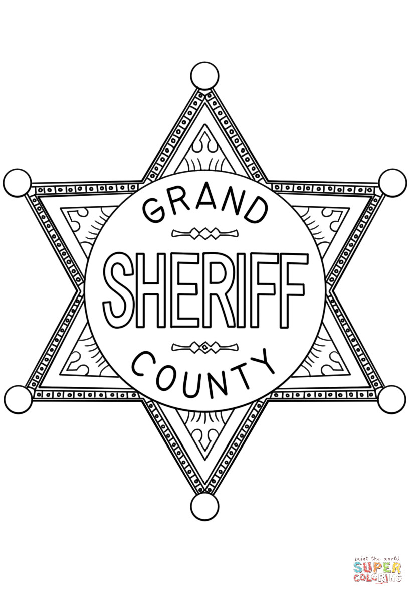 Best ideas about Police Badge Printable Coloring Pages . Save or Pin Sheriff Badge coloring page Now.