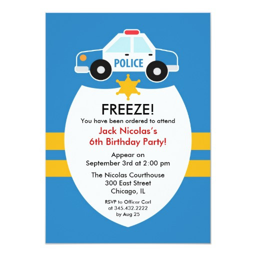 Best ideas about Police Birthday Invitations . Save or Pin Police Birthday Party Invitation Now.