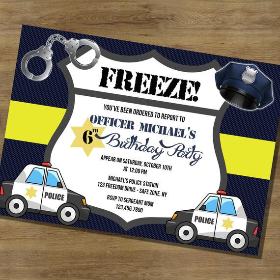 Best ideas about Police Birthday Invitations . Save or Pin Police Birthday Invitation Police Birthday by Now.