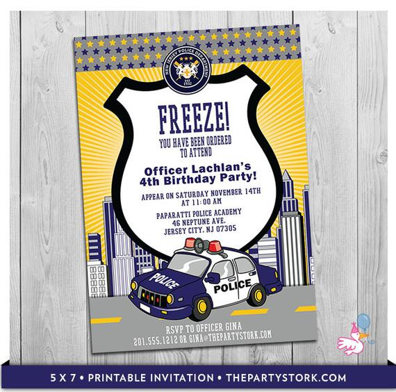 Best ideas about Police Birthday Invitations . Save or Pin Police Car Invitation Printable Personalized Boys Cop Now.