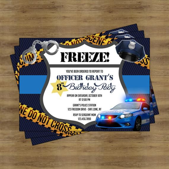 Best ideas about Police Birthday Invitations . Save or Pin Police Party Invitation Printable Police Birthday Party Now.