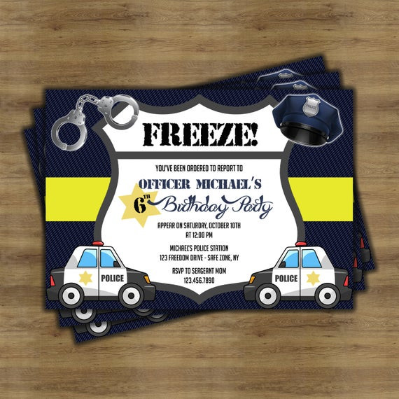 Best ideas about Police Birthday Invitations . Save or Pin Police Birthday Invitations Police Birthday Party Police Now.