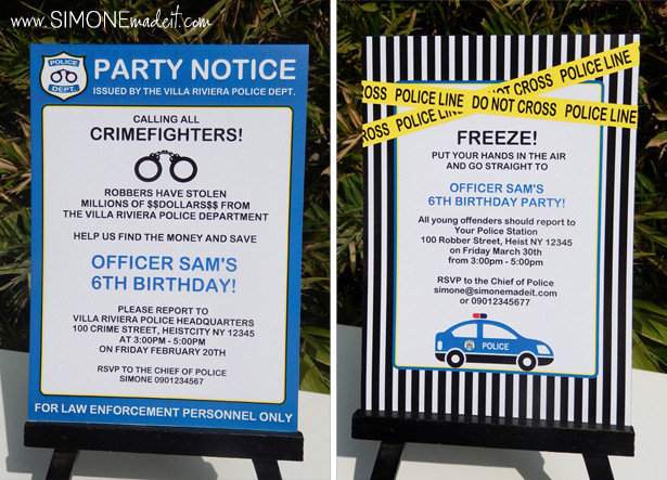 Best ideas about Police Birthday Invitations . Save or Pin Police Themed Party Printables & Invitations Now.