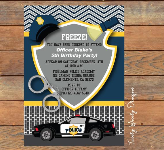 Best ideas about Police Birthday Invitations . Save or Pin Items similar to Police Birthday Invitation Printable on Etsy Now.