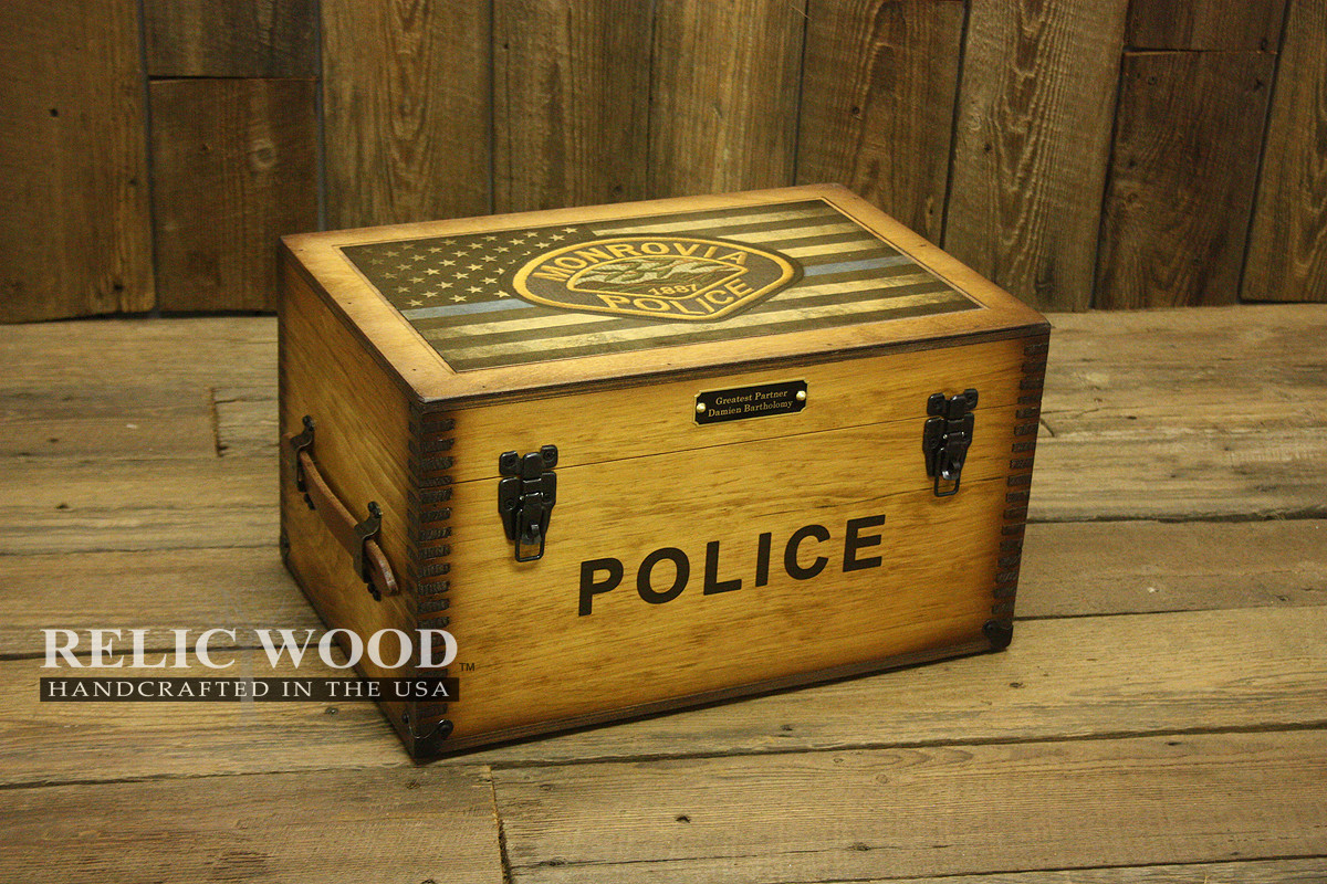 Best ideas about Police Gift Ideas . Save or Pin Custom Police Department Badge Keepsake Box Now.