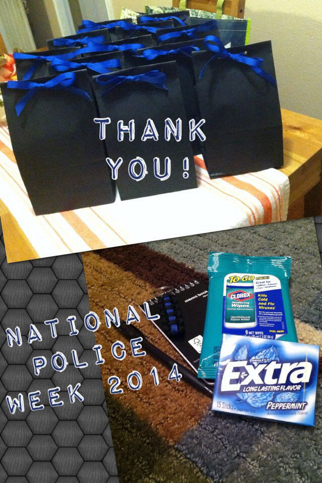 Best ideas about Police Gift Ideas . Save or Pin Police thank you t Clorox wipes notepad pen sharpie Now.