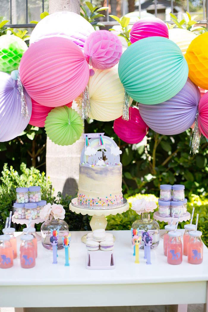 Best ideas about Ponies Birthday Party . Save or Pin Kara s Party Ideas My Little Pony 5th Birthday Party Now.