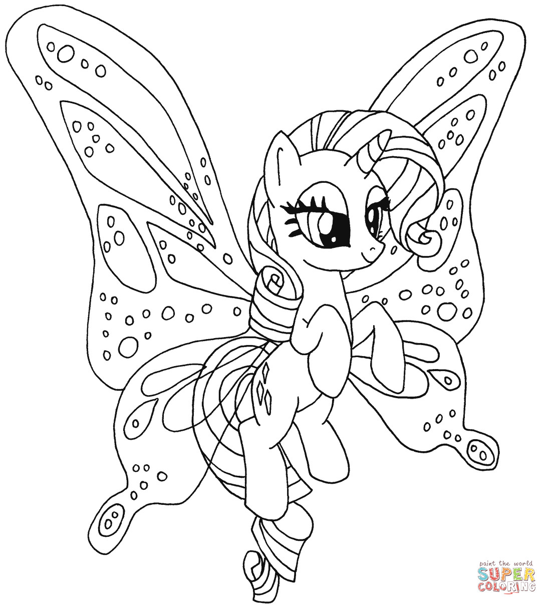 Best ideas about Pony Printable Coloring Pages . Save or Pin Rarity Pony coloring page Now.