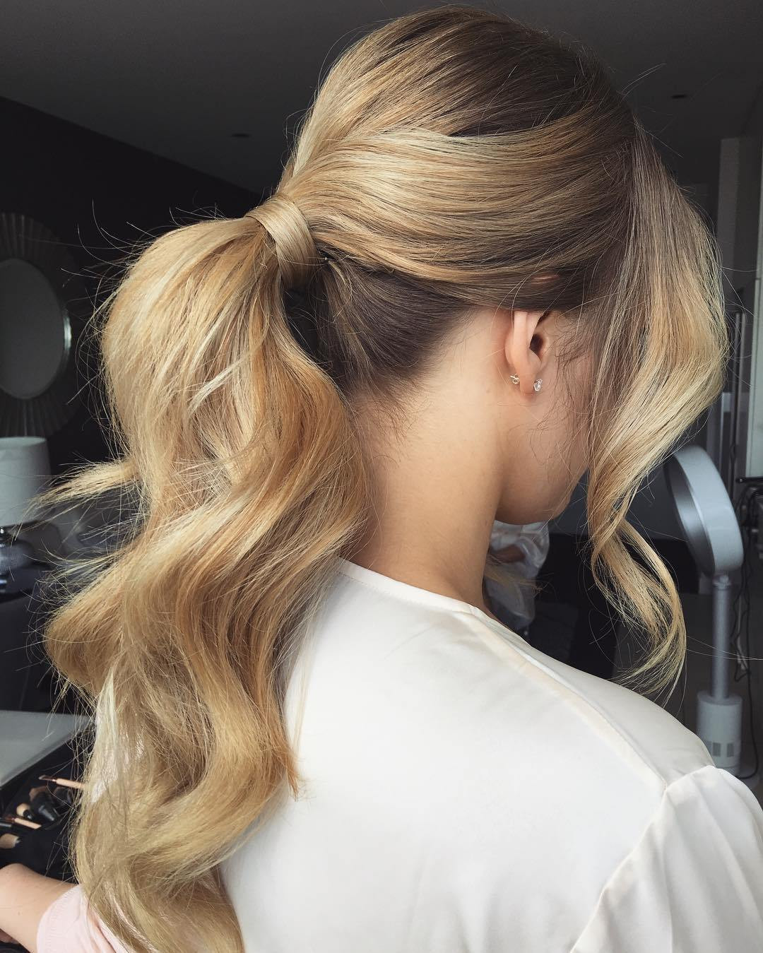 Best ideas about Ponytail Prom Hairstyles . Save or Pin 40 Irresistible Hairstyles for Brides and Bridesmaids Now.