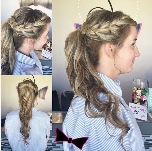 Best ideas about Ponytail Prom Hairstyles . Save or Pin 18 Cute Braided Ponytail Styles PoPular Haircuts Now.